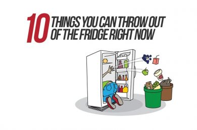 10 things you can throw out of the fridge right now