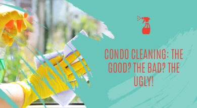 Condo Cleaning: The Good? The Bad? The Ugly!