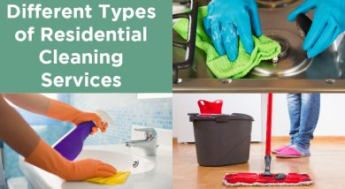 Different Types of Residential Cleaning Services