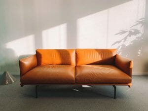 professional cleaning leather sofa