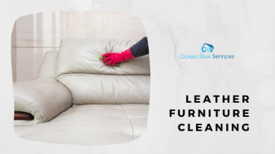 How to properly clean a leather furniture