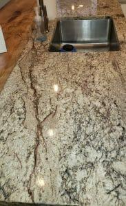 Granite countertop post cleaning