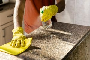 how to clean granite countertop and remove stain easy