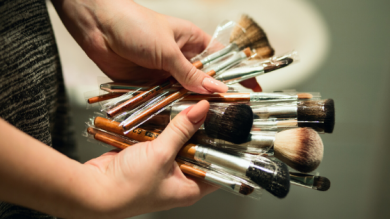 How often should we clean makeup brushes?